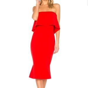 Conrad dress in scarlet